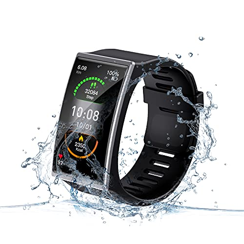 LEMONDA Reloj Inteligente Para Mujer Y Hombre, Pulsera Conectada Con Frecuencia Cardiaca, Rastreador De Actividad, Impermeable, Ip67, Smartwatch Fitness Tracker Deportes Para Android Ios (Gris)