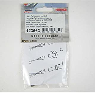Harder & Steenbeck Airbrush-accessoires, zilver vernikkeld, klein
