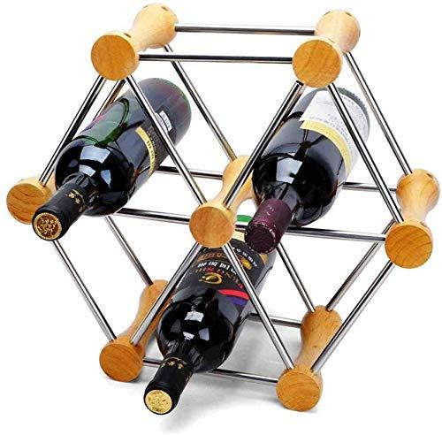 TUHFG Estante de vino para el hogar, la cocina, la mesa, el vino, el almacenamiento, el diseño modular apilable, soporte de almacenamiento (color: plata, tamaño: tamaño libre)