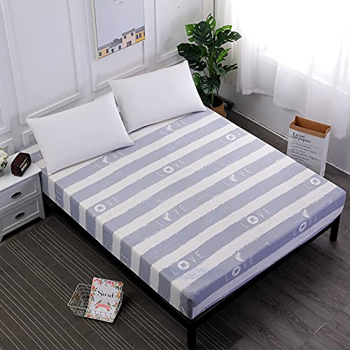NTtie Protector de colchón, algodón, poliéster, Impresión Impermeable y Colcha a Prueba de Polvo.