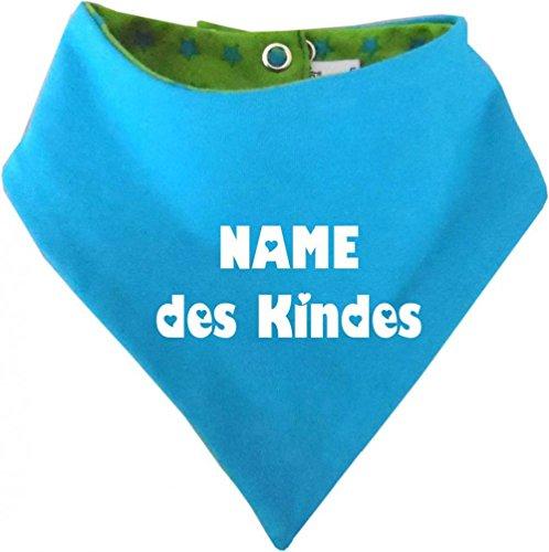 KLEINER FRATZ KLEINER FRATZ Kinder Wendehalstuch Sternchen (Farbe lime-royal) (Gr. 1 (0-74) mit Namen Ihres Kindes