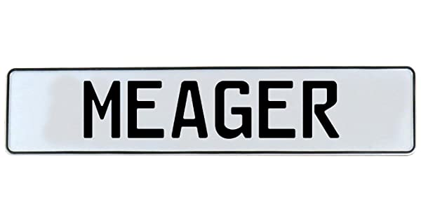 Meager White Stamped Aluminum Street Sign Mancave Vintage Parts 712370 Wall Art