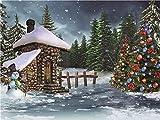 Fondo de fotografía de Interior Fondo de fotografía de Navidad Fondo de Vinilo Accesorios fotográficos A30 5x3ft / 1.5x1m