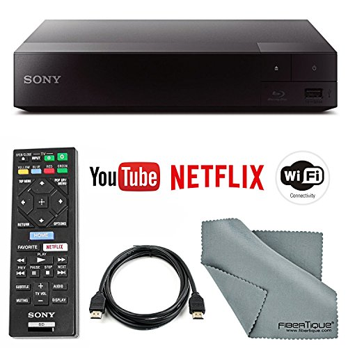 Buy Sony BDP-S3700 Wi-Fi Blu-Ray Disc Player with HDMI Cable + Remote + FiberTique Cleaning Cloth