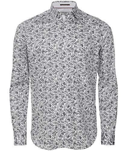 Photo of Ted Baker Men's Floral Droite Shirt White XXL