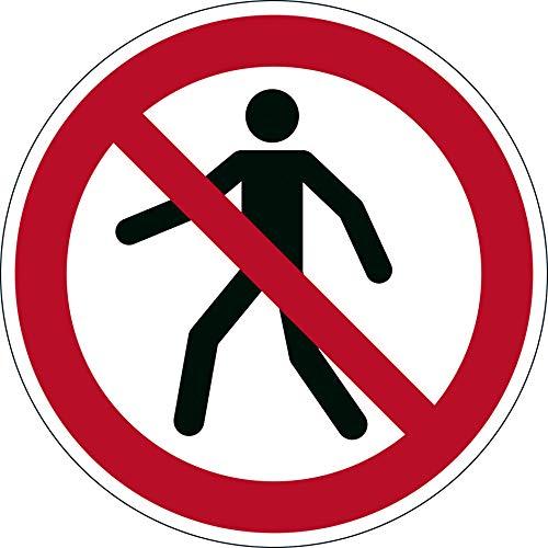 Durable 173203 Bodenaufkleber (Sicherheitskennzeichen Für Fußgänger verboten, Ø 43 cm)