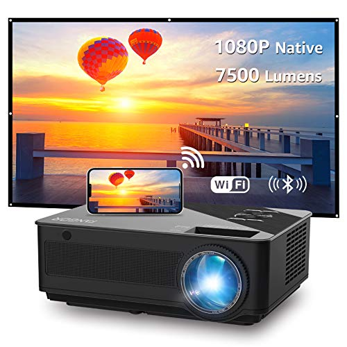 WiFi Projector, Native 1080P...