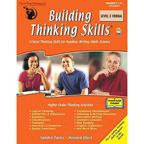 The Critical Thinking Building Thinking Skills Level 3 Verbal School Workbook