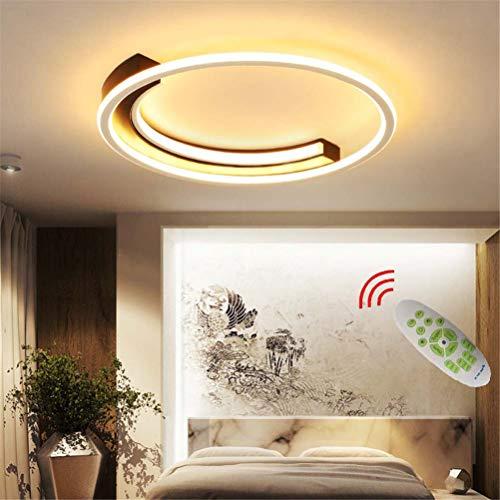Lámpara de Techo LED Lámpara de Dormitorio, Luz de Techo de Diseño en Forma de Arco Regulable con Control Remoto, Decoración de Sala de Estar Lámpara Plafón Lámpara de Sala de Estar,Ø60cm
