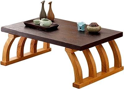 Home Bedroom Low Table Indoor Coffee Table Living Room Bay Window Study Desk Terrace Tatami Tea Table (Color : BrownA, Size : 70 * 45 * 30cm)