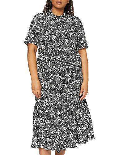Joe Browns Damska sukienka monochromatyczna w kwiatowym stylu, Lssiges, A-czarny/biały, 38 PL