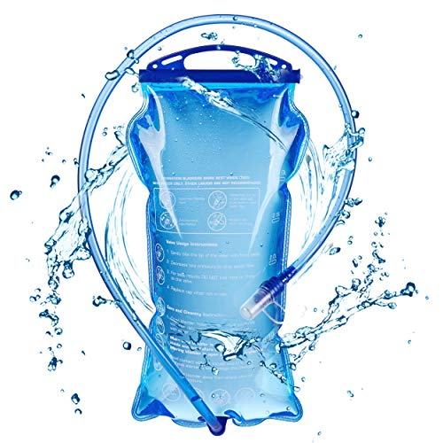TRIWONDER Poche à Eau 1,5L 2L 3L Réservoir d'eau Souple Poche Hydratation Sac d'eau Vessie d'eau Sac Hydratation pour Running Marathon Randonnée Vélo (3L)