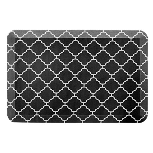 """AmazonBasics Anti-Fatigue Standing Comfort Mat for Home Kitchen and Office - 20"""" x 30"""", Black Pattern"""