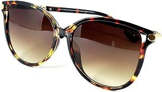Óculos De Sol Feminino Geek Redondo Tartaruga T-8054