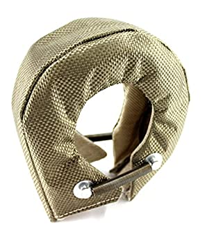 T3 Titanium Fiber Turbocharger Heat Shield Cover Inner high silica cloth and stainless steel knitted wire mesh inner liner