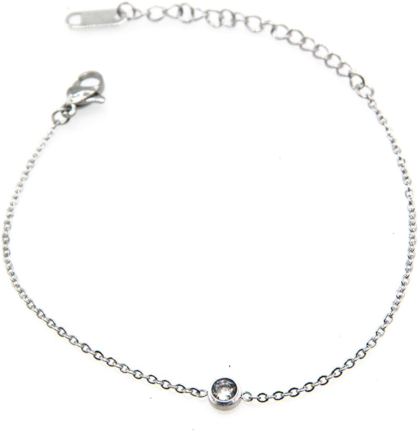 (My Queen) maikun bracelet Redeisu gift   overlaid with cute fashionable simple stainless birthday gift Silver