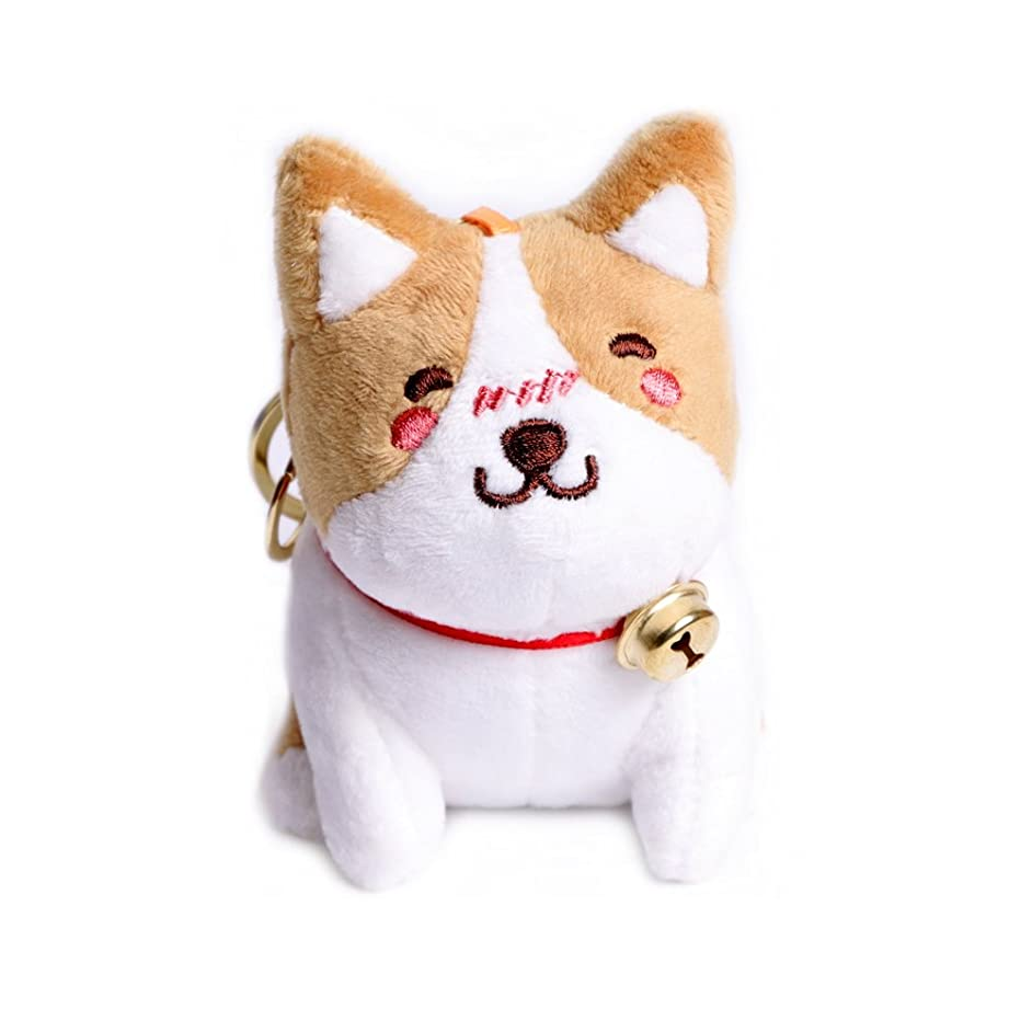 HAWORTHS Plush Corgi Keychain, Cute Corgi Dolls Stuffed Animal Toy Keychain for Boys Girls Kids Children Adults, Super Adorable Dog Key Ring