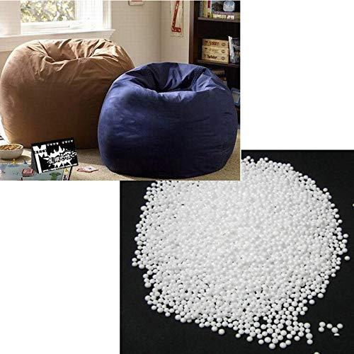Stoel LKU Witte schuim bal zitzak baby gewatteerde bed slapen baby zitzak stoel pasgeboren bank polystyreen schuim bal 5-7mm, 250g