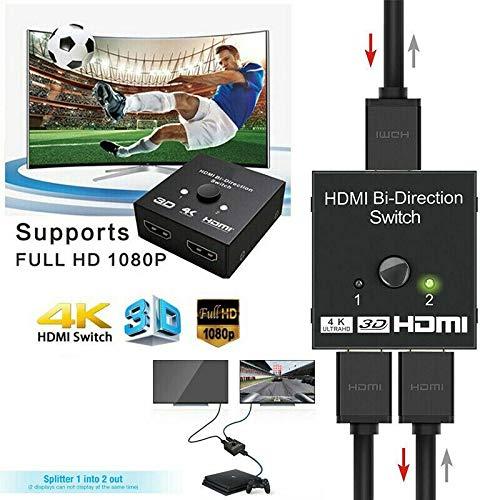 DishyKooker Für HDTV-Xbox PS4-TV-Box HDMI-Splitter-Schalter 1 Eingang zu 2 Out 4K 3D 1080P Switcher