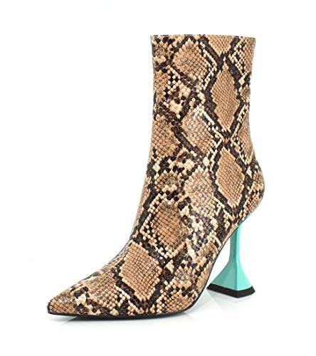 Jeffrey Campbell Womens Entity-LO Beige Black Snake Blue Boot - 7.5