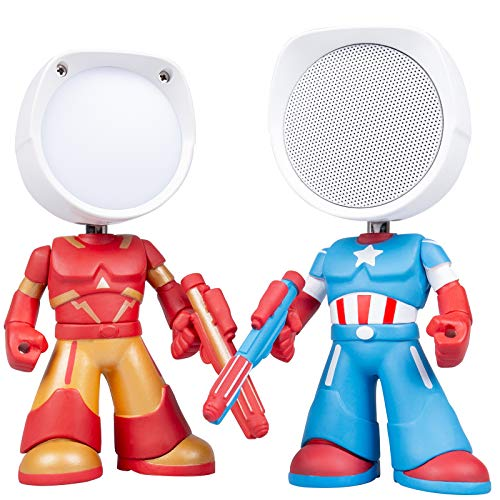 Night Light Bluetooth Speaker, Portable Wireless Bluetooth Speaker & Dimmable Small Table Lamp with Touch Control, Rechargeable Nursery Night Lights, Best Gift for Adult, Kids, Boys and Girls.