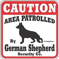 SIGNSUP (サインズアップ) 英語版 猛犬注意 ・犬がいますの看板 サインボード:ジャーマンシェパード [並行輸入品]