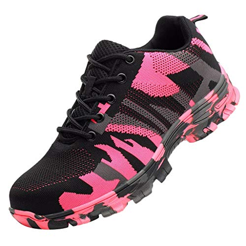 KERULA Sneakers Damen, Klassisch Mode Stahlkappe Arbeitssicherheit Atmungsaktive Freizeitkonstruktion Breathable Low-Top|Herrenschuhe|Basketballschuhe|Freizeitschuhe|Schuhe