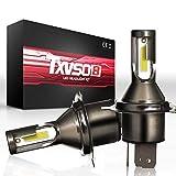 Ampoule de Phare de Voiture H4, Ampoule de Phare à LED 110W 6000K 26000LM, Kit de Conversion de LED Auto Etanche IP68, Paquet de 2