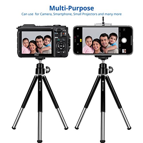 Everycom Mini Tripod with Mount Compatible with All Mobile Phones and Digital Camera – Black