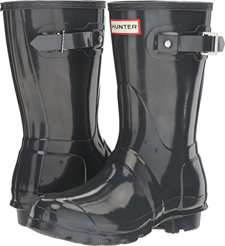 Hunter Women's Original Short Gloss Dark Slate Rain Boots - 9 B(M) US