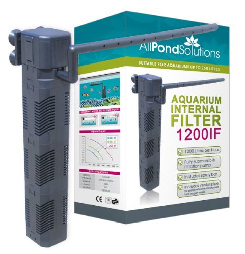 All Pond Solutions 1200IF Aquarium Internal Filter, 1200 Litre/ Hour