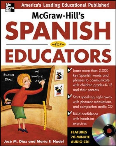 McGraw-Hill's Spanish for Educators w/Audio CD