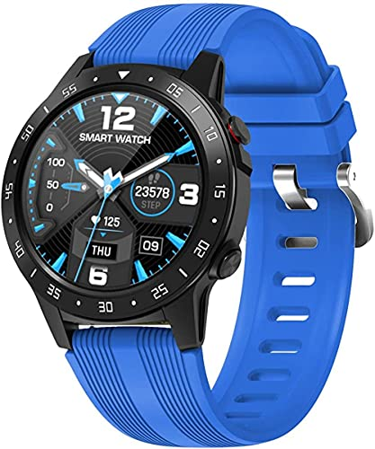 Sports Watch Compass Barometer Fitness Tracker Atmospheric Pressure Monitor Music Control Bluetooth Smart Watch-Blue