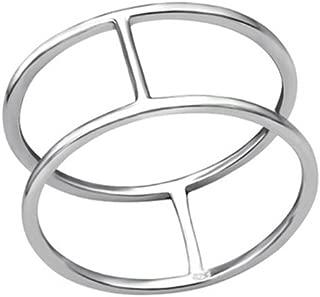 Oxidized Plain Rings 925 Sterling Silver Liara Polished Nickel Free