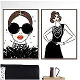 RuiChuangKeJi Poster Opere d'Arte 2x60x80cm Senza Cornice Fashion Girl Collana di Perle Bracciale Nordic Poster e Stampe Immagini a Parete per la Decorazione del Soggiorno