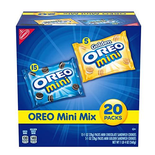 OREO Mini Mix Sandwich Cookies Variety Pack, 20 - 1 oz Packs