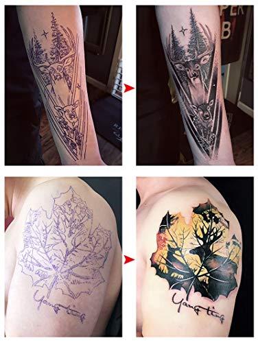 Jconly Tattoo Transfer Paper - 35pcs Professional Tattoo Stencil Transfer Paper for Tattoo Kits Tattoo Supplies, 8.5