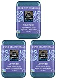 Dead SEA Salt Lavender soap 3 PK, 7oz. Dead Sea Salt Includes Sulfur, Magnesium, 21 Essential Minerals. Shea Butter, Argan Oil. for Acne, Eczema, Psoriasis, All Skin Types, Problem Skin. 100% Natural