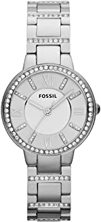 Fossil Womens Quartz Watch, Analog Display and Stainless Steel Strap ES3282
