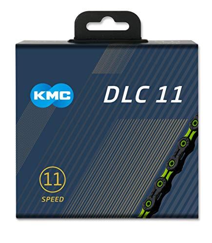 KMC Unisex's DLC 11 Ketting, Zwart/Groen, 1/2
