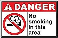 アートウォールデコレーションアルミサイン、危険:危険喫煙マッチまたはオープンフラムパークサインパークガイド警告サイン私有財産のための金属屋外危険サイン