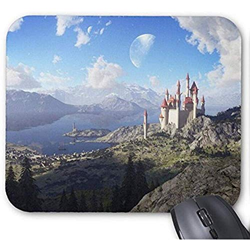 Mousepad Fairy Tale Lake Kasteel Print Muis Mat
