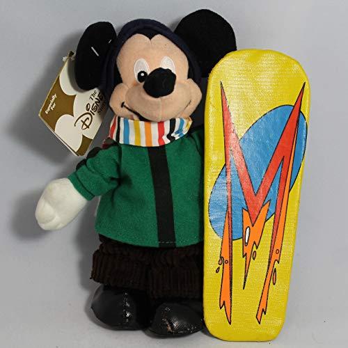 Disney Snowboarder Hit the Slopes Snowboarding Mickey Mouse 8 Plush Bean Bag Doll