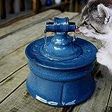 ペットの衛生用ウォーターボウル、猫と犬のスマートウォーターフィーダー、セラミック猫の噴水、超静音設計(ホワイト)
