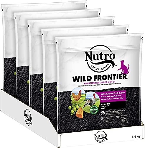 NUTRO WILD Frontier Katzenfutter Trockenfutter Adult mit Truthahn und Huhn 5x1,4kg