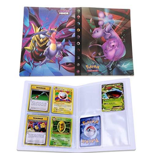 Dorara Tarjeta de Comercio Álbum, GX y EX Cartas Pokemon Álbum, Carpeta Cartas Pokemon, Album Pokemon Puede acomodar 120 Tarjetas Individuales o 240 Tarjetas Dobles (Mew)