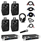 Vonyx Berlin Nights - DJ System-Set, 2 x PA-Verstärker: 2 x 500 Watt, 4 x...