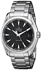 Omega Men's 231.10.39.60.06.001 Aqua Terra Quartz 38.5mm Analog Display Swiss Automatic Silver Watch
