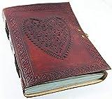 Leather Journal Heart Engraved Cute Handmade...