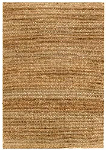 HAMID Juteteppich - Giralda Teppich 100% Natürliche Jutefaser - Weicher Teppich und Hohe Festigkeit...